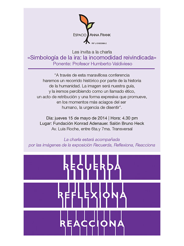III Semana de la Reflexión, Ana Frank (2015)