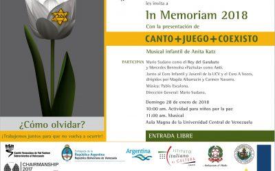 """El musical infantil """"Canto+Juego+Coexisto"""" se presentará en el Aula Magna"""