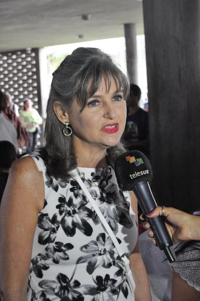 ilana Beker, Vicepresidente de EAF es entrevistada para medios televisivos en el marco de #Canto+Juego+Coexisto
