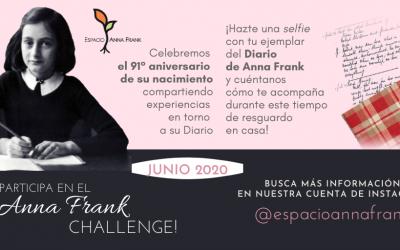 EAF conmemorará el 91° cumpleaños de Anna Frank con una iniciativa fuera de serie